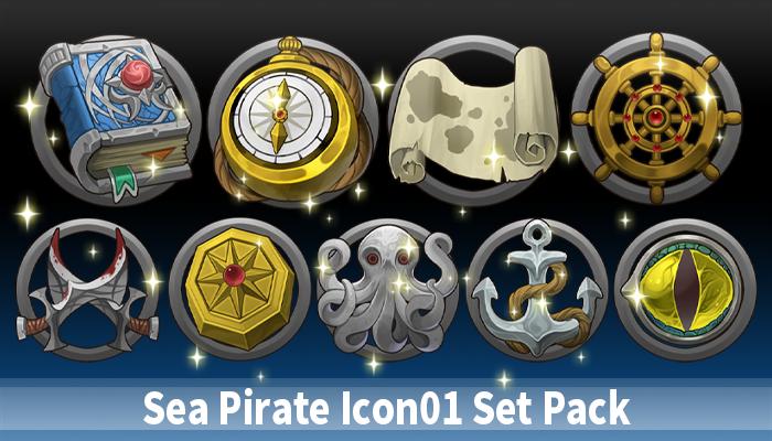 Sea Pirate Icon01 Set Pack