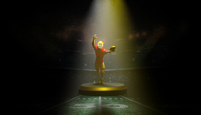 trophy American football