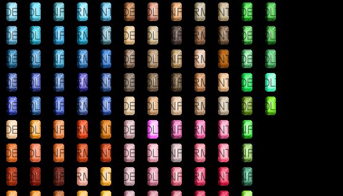 Emerald Cut Gemstones [48×48]