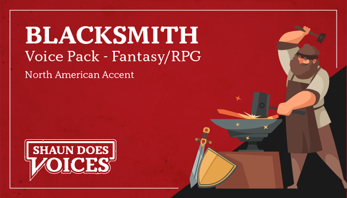 Blacksmith Voice Pack – North American Accent