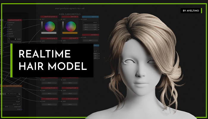 Realtime Hair Model – Hairstyle 001