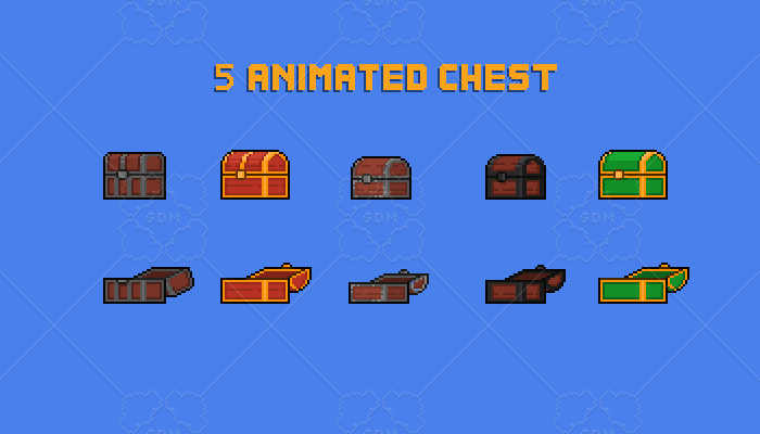 chest pack game assets