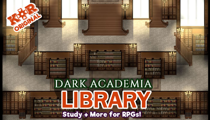 Dark Academia Library Tileset for RPGs