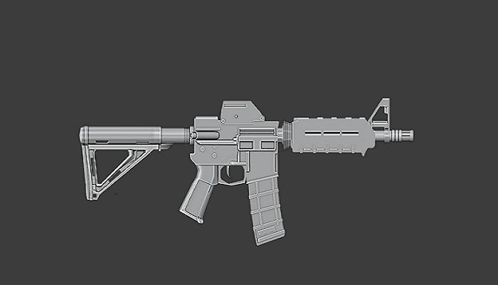 M416 rifle Blender 3d(High poly)