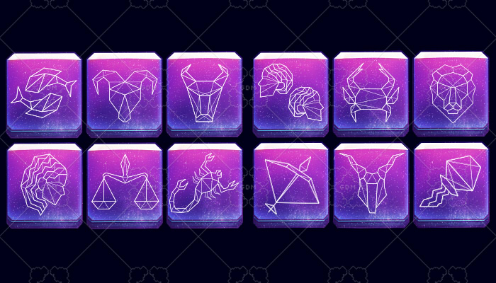 Asset Zodiac signs Dark theme
