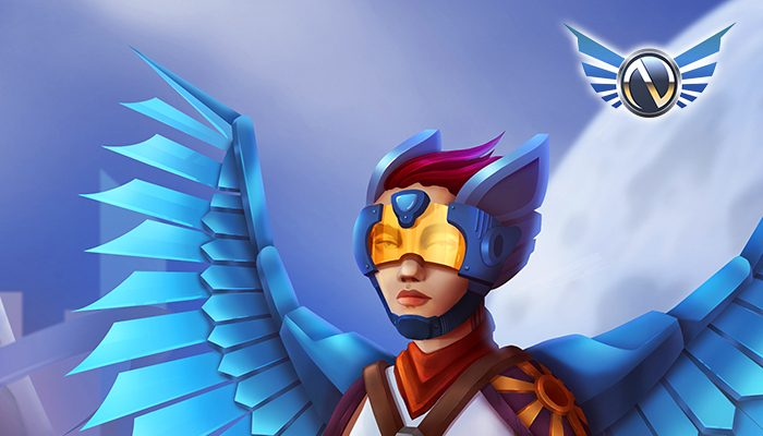 Colorful Sci-Fi asset. Nimble The Skyguard character.