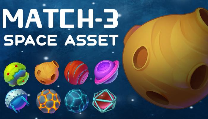 Match-3 Space Asset