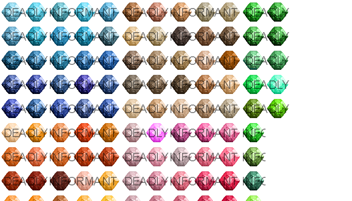 Fire Rose Cut Gemstones [48×48]