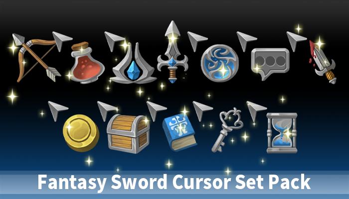 Fantasy Sword Cursor Set Pack