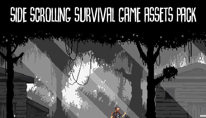 Side Scrolling Survival Game Assets Pack