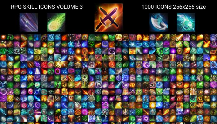 RPG skill icons 256×256 Volume 3