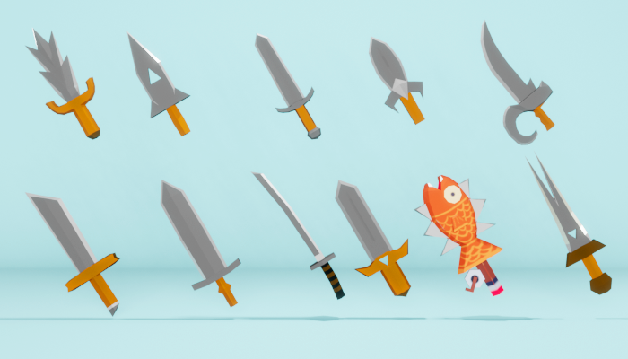 Low Poly Sword Pack 2021