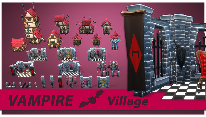Vampire RTS Fantasy Buildings