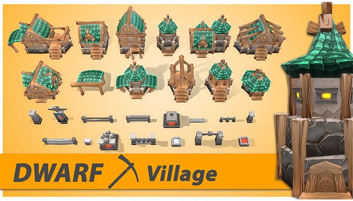 Dwarf RTS Fantasy Buildings