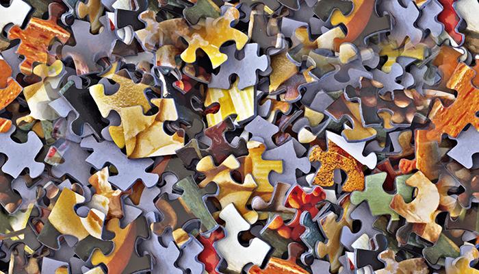 Puzzle seamless tile texture