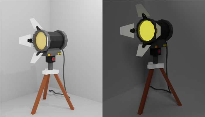 Spotlight Low Poly