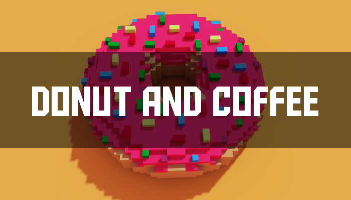 Coffee And Donut 3D model