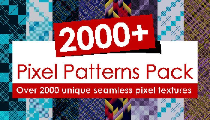 2000+ Abstract Pixel Patterns Pack