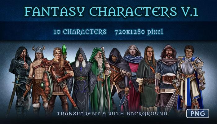 Fantasy Characters v.1