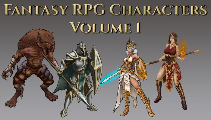 Fantasy RPG Character Pack – Volume 1