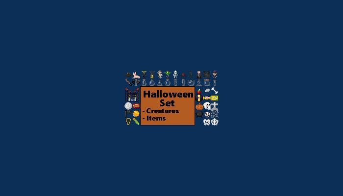 Pixel Art Halloween Set [16×16]