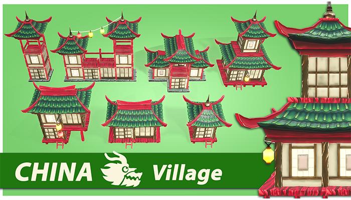 China RTS Fantasy Buildings