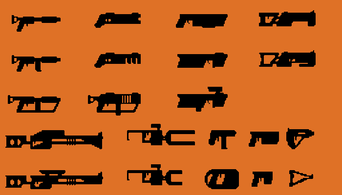 Scifi Weapon icons