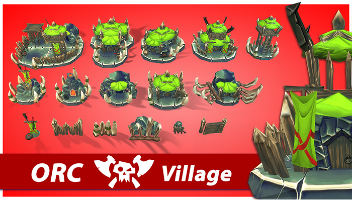Orc RTS Fantasy Buildings