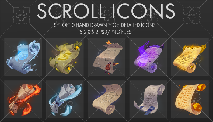 Fantasy Scroll Icons