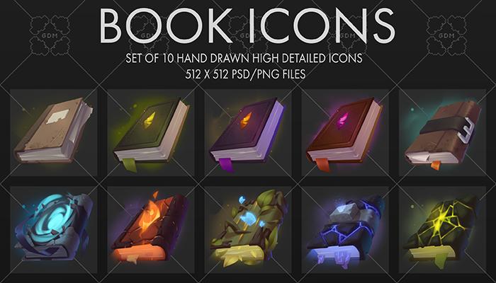 Fantasy Book Icons