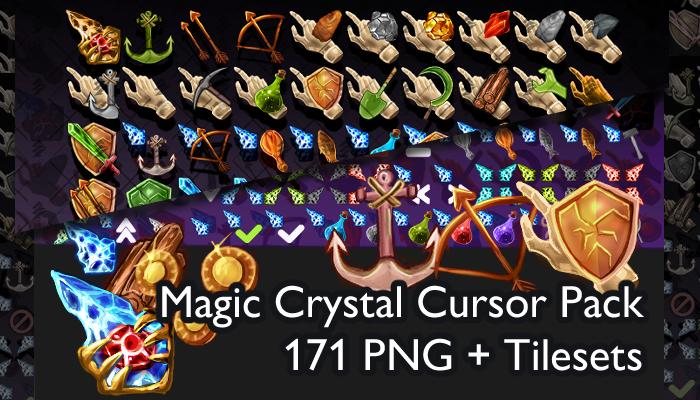 Assets: Magic Crystal Cursor Pack 6 [+171]