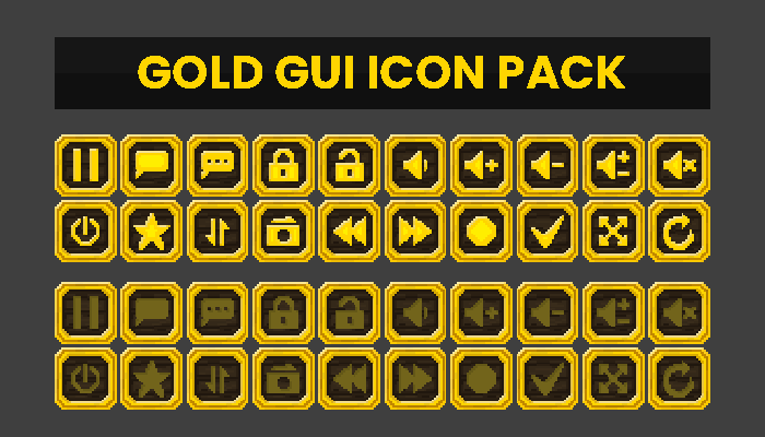 Gold GUI Icon Pack