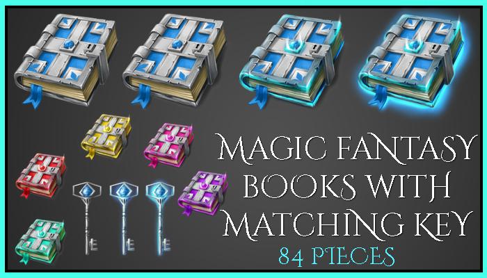 Magic Fantasy Books with matching key