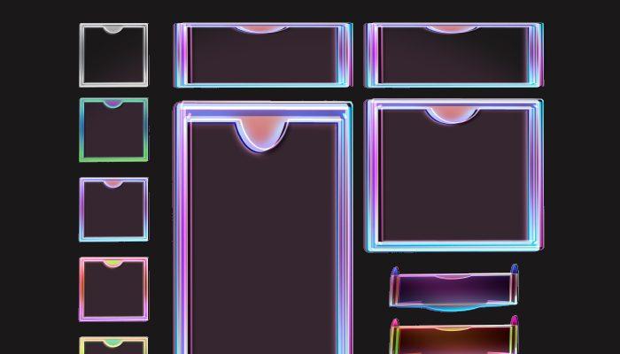 Techno Frame Assets 2D
