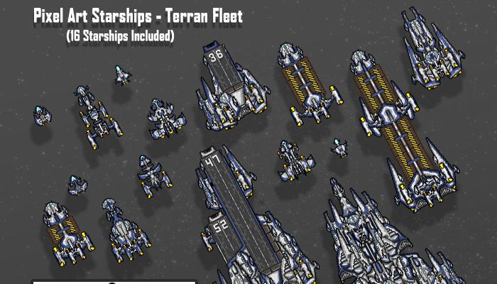 Pixel Art Starships – Terran Fleet