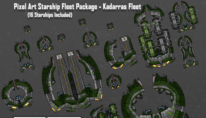 Pixel Art Starships – Kadarras Fleet