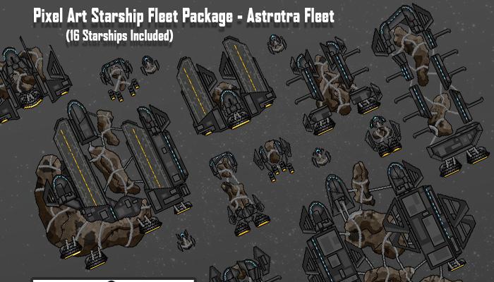 Pixel Art Starships – Astrotra Fleet