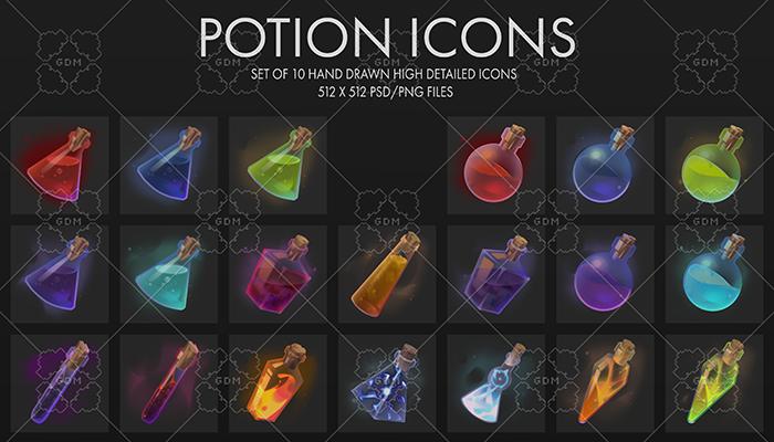 Fantasy Potion Icons