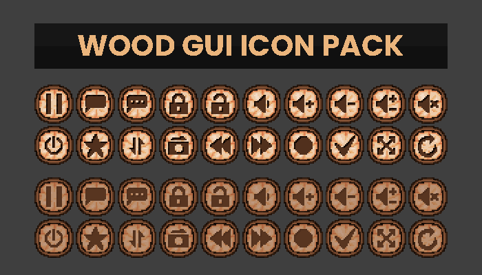 Wood GUI Icon Pack