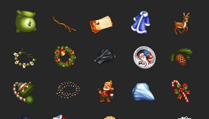 A pack of 24 icons for the Christmas