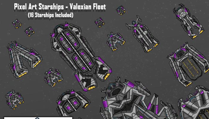 Pixel Art Starships – Valexian Fleet