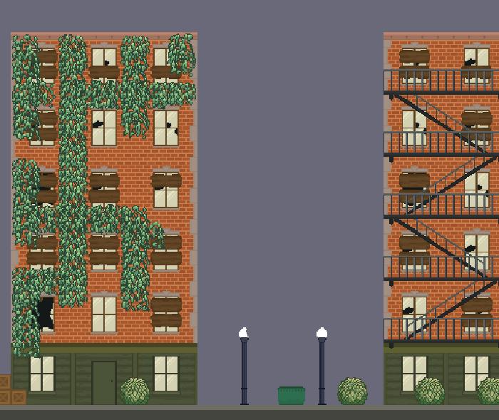 Apocalypse Building Pixel Tilemap