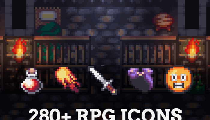 280+ RPG Icons for RPG Maker MV / MZ