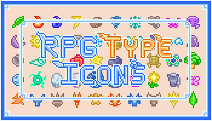 RPG Type Icons 16×16