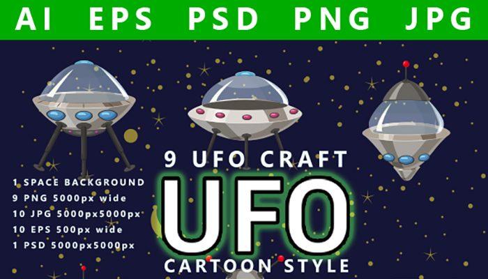 Alien UFO set