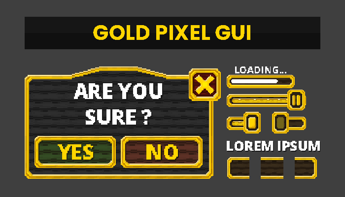 Gold PixelArt GUI